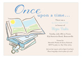 Baby Shower Books Boy Invitation