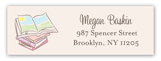 Baby Shower Books Girl Address Label