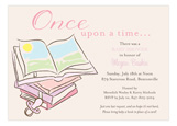 Baby Shower Books Girl Invitation