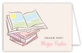 Baby Shower Books Girl Note Card