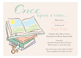 Baby Shower Books Neutral Invitation