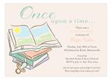 Baby Shower Books Neutral Invitation