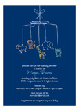 Baby Shower Mobile Boy Invitation