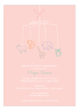 Baby Shower Mobile Girl Invitation