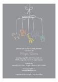 Baby Shower Mobile Neutral Invitation