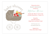 Baby Shower Stroller Neutral Invitation