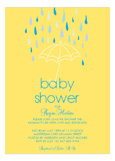 Baby Shower Umbrella Boy Invitation