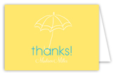 Baby Shower Umbrella Boy Note Card