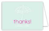 Baby Shower Umbrella Girl Note Card
