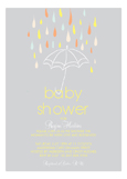 Baby Shower Umbrella Neutral Invitation