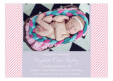 Baby Stripes Girl Photo Card