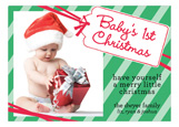 Babys 1st Christmas Tag Photo Card
