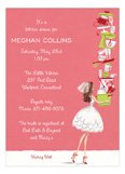Coral Balancing Bride Bridal Shower Invites