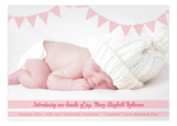 Banner Greeting Girl Photo Card