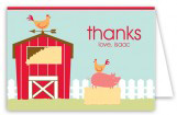 Barnyard Birthday Folded Note Card