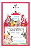 Barnyard Birthday Farm Kids Party Invitations