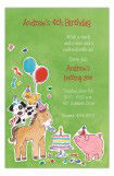 Barnyard Kids Birthday Party Invitation