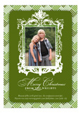 Baroque Frame Green Photo Card