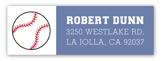 Baseball Banner Address Label