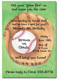 Mit and Baseball Party Invitations