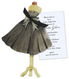 Basic Black Dress Invitation