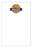 Basketball Banner Flat Note Card