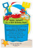 Beach Bucket Die-cut Invitation