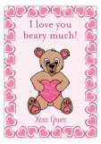 Bear Hug Valentine Card