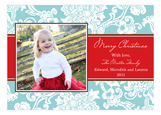 Beautiful Aqua Textile Photo Card