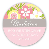 Beautiful Banner Pink Baby Shower Round Sticker