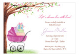 Beautiful Bassinet Pink Invitation