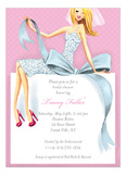 Beautiful Bride with Bow - Blonde Invitation
