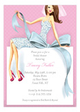 Beautiful Bride with Bow - Brunette Invitation