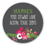 Beautiful Christmas Wreath Round Sticker