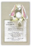 Beige Bunny Invitation
