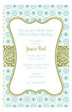 Bella Blue Polka Dots Invitation
