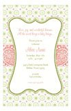 Bella Green Polka Dots Invitation