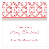 Have a Very Merry Christmas Berry Wreath Square Sticker