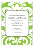 Big and Bold Green Damask Invitation