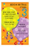 Big Balloons Birthday Invitation