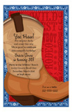 Big Brown Boot Invitation