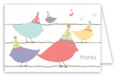 Bird is the Word Folded Note Card