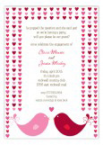 Hearts Birds of a Feather Valentines Invitations