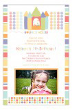 Birthday Bounce House Pastels Photo Card