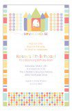 Birthday Pastels Bounce House Party Invitations