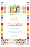 Birthday Bounce Primary Invitation