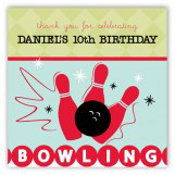 Birthday Bowling Square Sticker