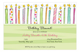 Birthday Candles For Her Invitation