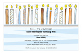 Boy Birthday Candles For Him Invitation