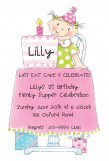 Birthday Girl Die-cut Invitation